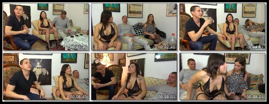 [JacquieEtMichelTV.net / Indecentes-Voisines.com] Alicia, Camille (Alicia et Dario font rever Camille / 2018-01-03) [2018 г., Amateur, Threesome, Gonzo, Orgy, 1080p]