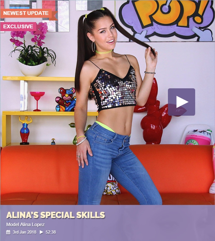 [Swallowed.com] Alina Lopez - Alina S Special Skills (03.01.2018) [2018 г., Gonzo, Blowjob, Gagging, 360p]
