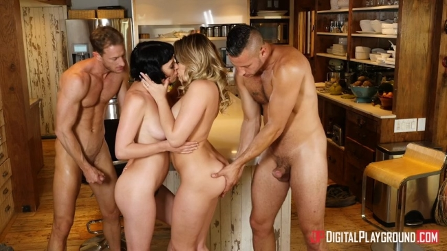 Mia Malkova & Olive Glass - Couples Vacation, Scene 5 (19.07.2017) [2017 г., Blowjob, Deepthroat, Small Tits, Swingers, Pussy Licking, Vaginal, Facial]