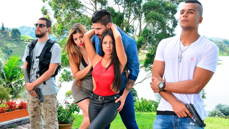 [NarcosX.com / Porndoepremium.com] Maria Antonia Alzate, Tania Mejia - Lake house twosome and outdoor threeway with hot Colombian babes EP.3 (21.12.2017) [2017 г., Big Tits, Brunette, Cumshot, Hardcore, Latina, Outdoor Sex, Parody, Threesome, 1080p]