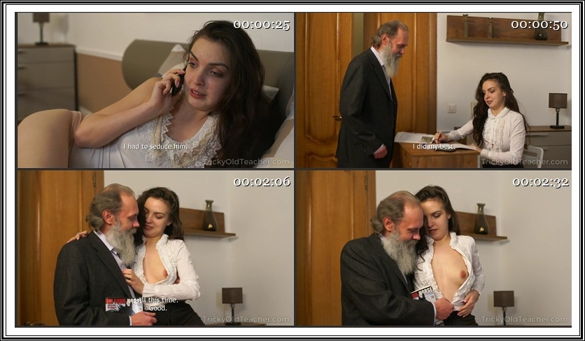 [TrickyOldTeacher.com] Milana Witch - Sly student passes test and gets satisfaction at once (26.12.2017) [Old and Young, Hardcore, Teen, 2160p]