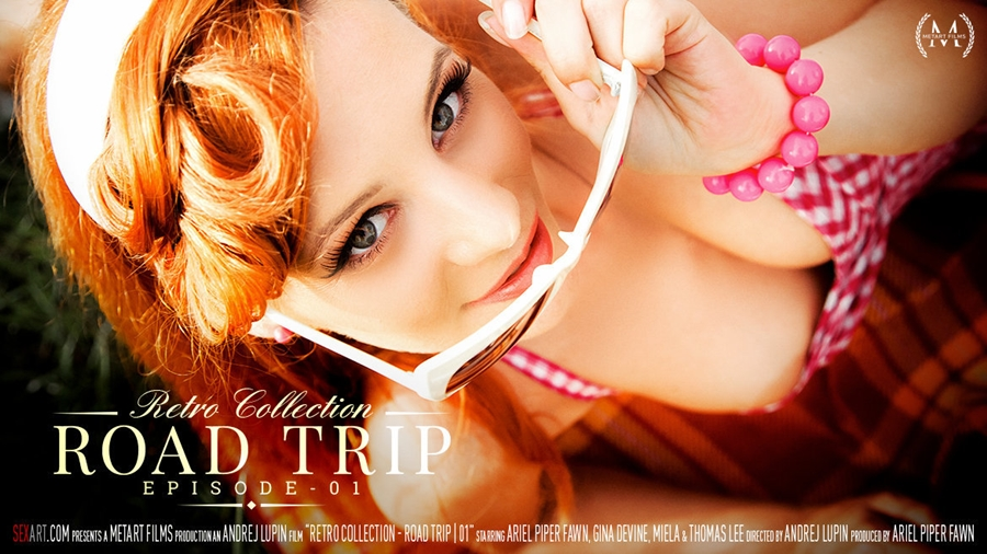 [SexArt.com / MetArt.com] Ariel Piper Fawn & Miela A - The Retro Collection - Road Trip, Episode 1 [2018 г., Lesbian, Oral, 1080p]