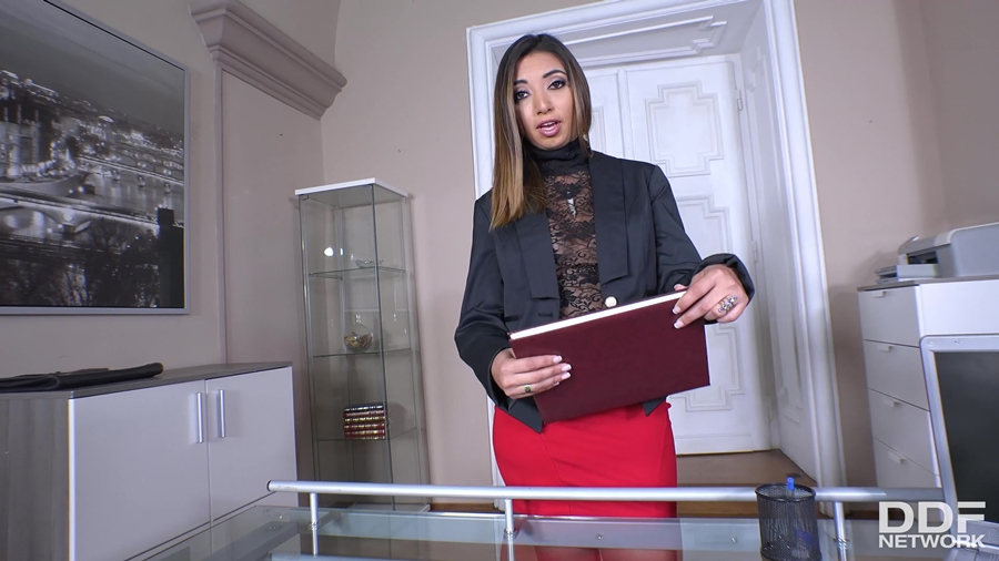 [OnlyBlowjob.com / DDFNetwork.com] Frida Sante - Lascivious Secretary Sucks Boss (21831 / 12.04.2018) [2018 г., Blowjob, Cum in mouth, Footjob, Office, POV, Facial] 360p