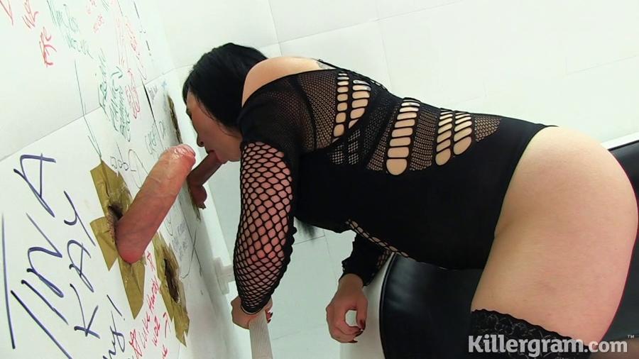 [Gloryhole Gaggers / Killergram.com] Sexy Cleo (Lets Have A Gangbang) [2018-05-02, Brunette, Straight, Gangbang, 360p]