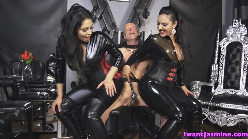 [IwantJasmine.com] Goddess Jasmine Mendez & Mistress Ezada Sinn - 125 days of CHASTITY [2018 г., Female Domination, Chastity, CBT, Cock Tease, Orgasm Denial, Edging Game, 720p]