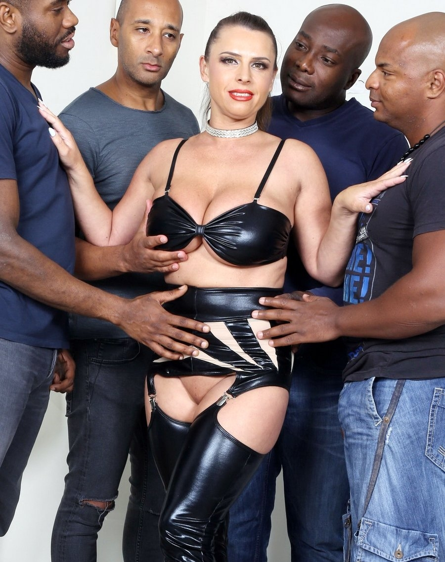 [LegalPorno.com] Sexy Susi goes all black & takes two cocks in the ass (IV184 / 22.06.2018) [Gangbang, Gape, DP, Big tits, MILF, DAP, Interracial, Anal, 480p]