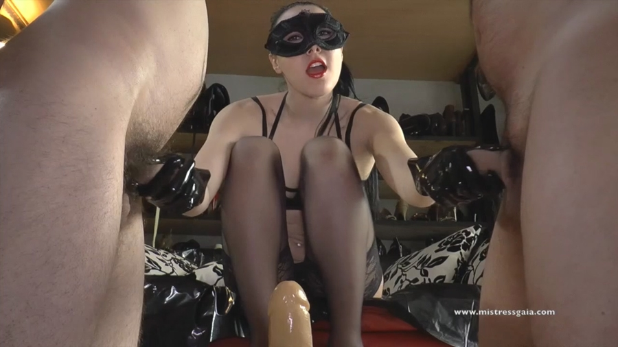 [MistressGaia.com / Clips4sale.com] Mistress Gaia - Merciless Ass Fucking / Little Cock (2 ролика) [2018 г., FemDom, Stockings, Strap-On, Handjob] 720p, 1080p